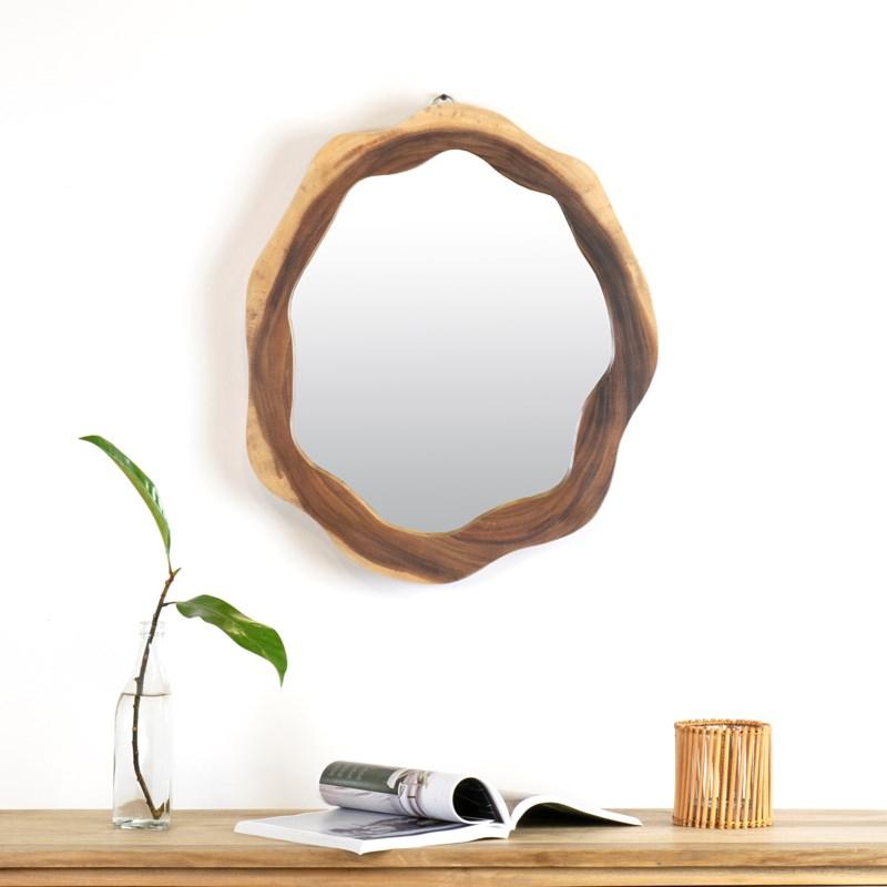 Life Edge 3D Mirror Solid Suar Wood Frame (Size Varies) (22x2x24)