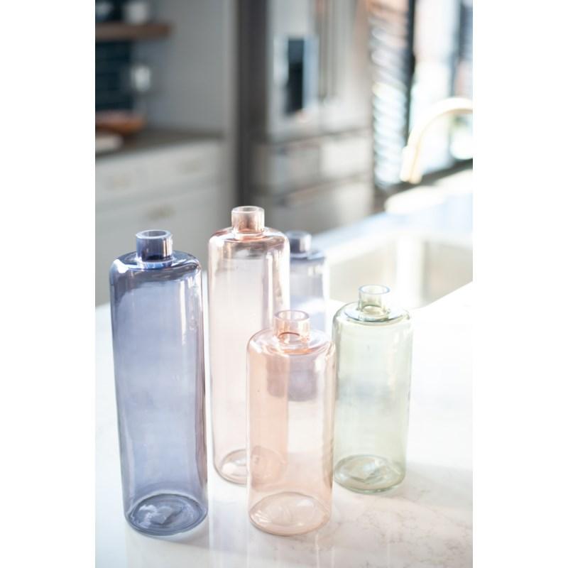 """10"""" H Slender Glass Vase - Amber(2pc/min)"""