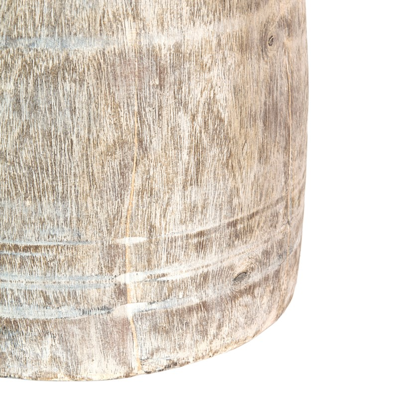 """Found object -  Wooden vessel 9"""" X 15"""" H -- light color"""