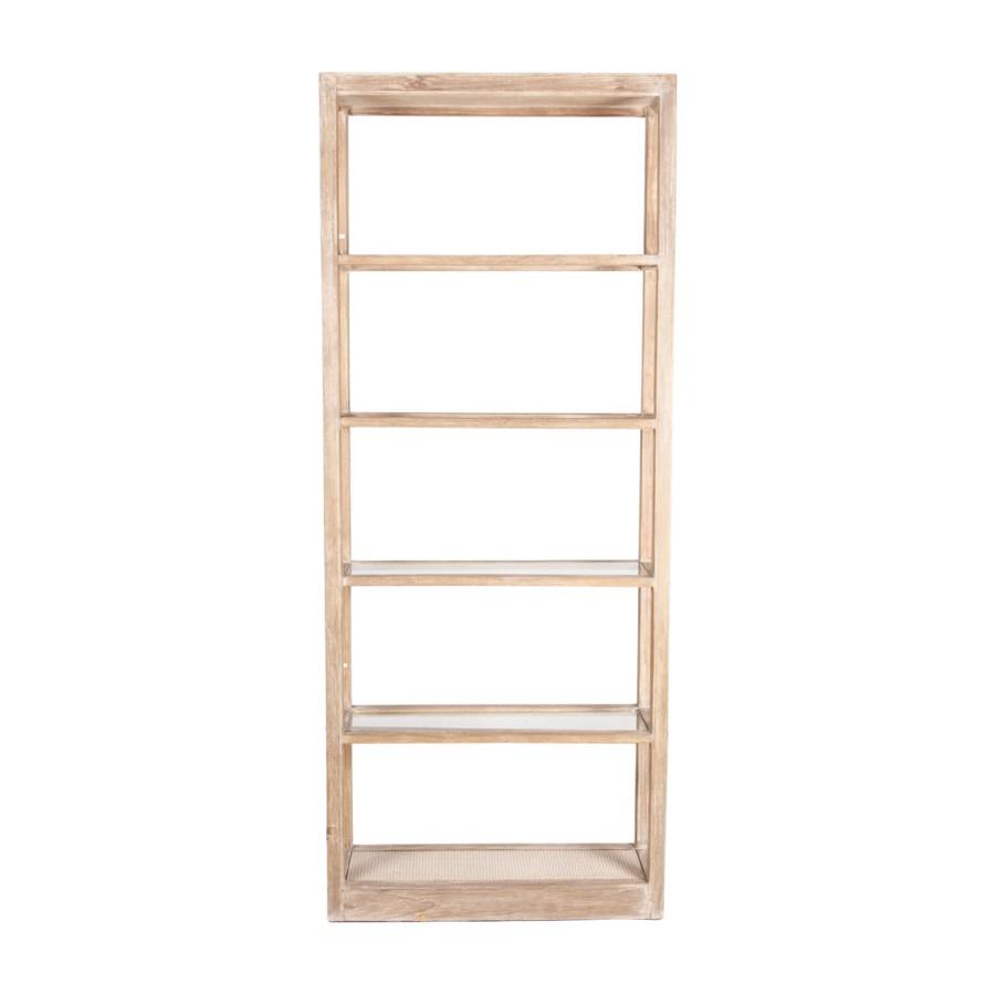 "87"" Wythe Wooden Bookshelf, Brown"