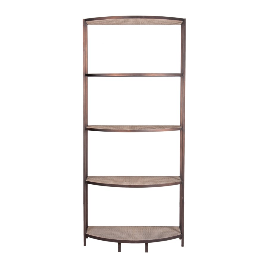 "83"" Banks Iron Bookshelf, Black"