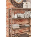 Archer Recycled Wood Rolling Bookshelf, Brown