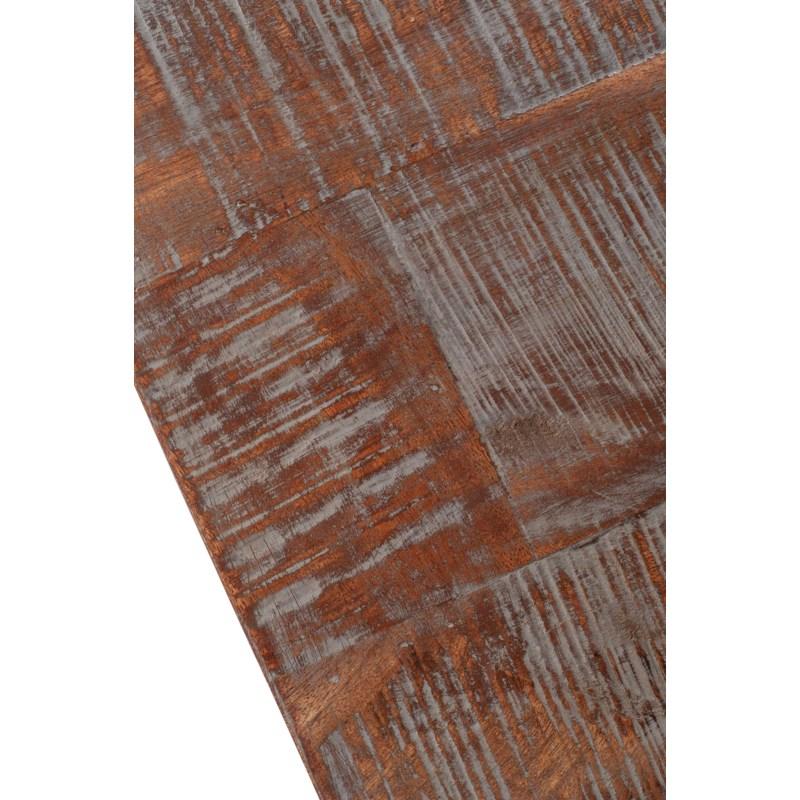 "Barley 47"" Bench, Wood/Iron"