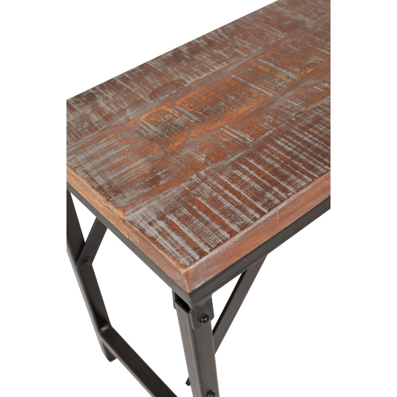 "Barley 80"" Bench, Wood/Iron"