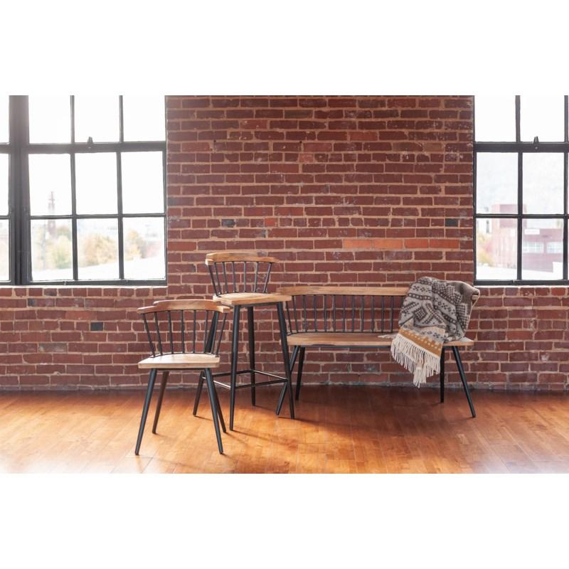 Tucker Bar Stool, Wood/Iron