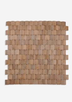 Terrace Wood Mosaic - Natural (15.75X1x15.75) = 1.72 sqft