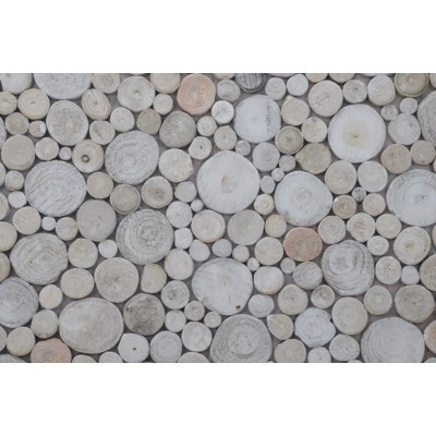 (LS) Riverbed Mosaic - Pearl (16.54X16.54X0.31) = 1.90 sqft