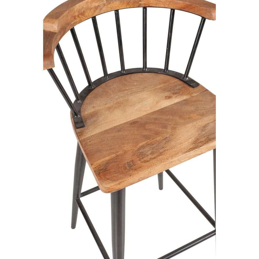 Tucker Counter Stool, Wood/Iron