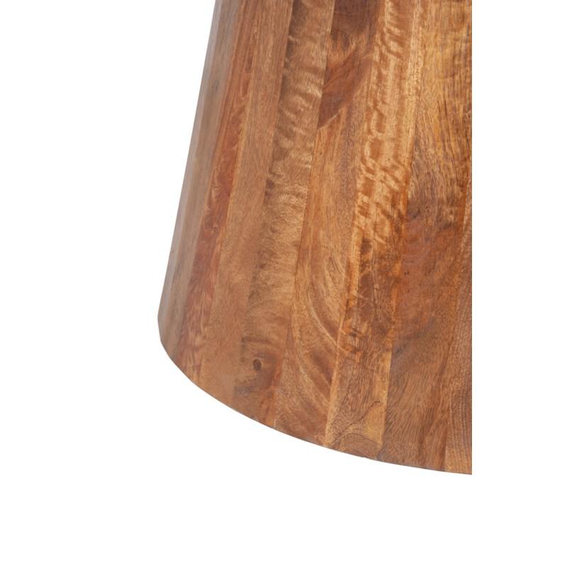 "Edie 36"" Round Marble Coffee Table, Light Oak Base"
