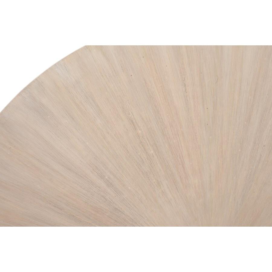 "Zane 42"" Round Coffee Table, White Wash"