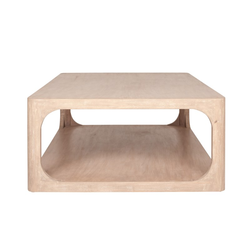 """Archie 47"""" Coffee Table, Beech Finish"""