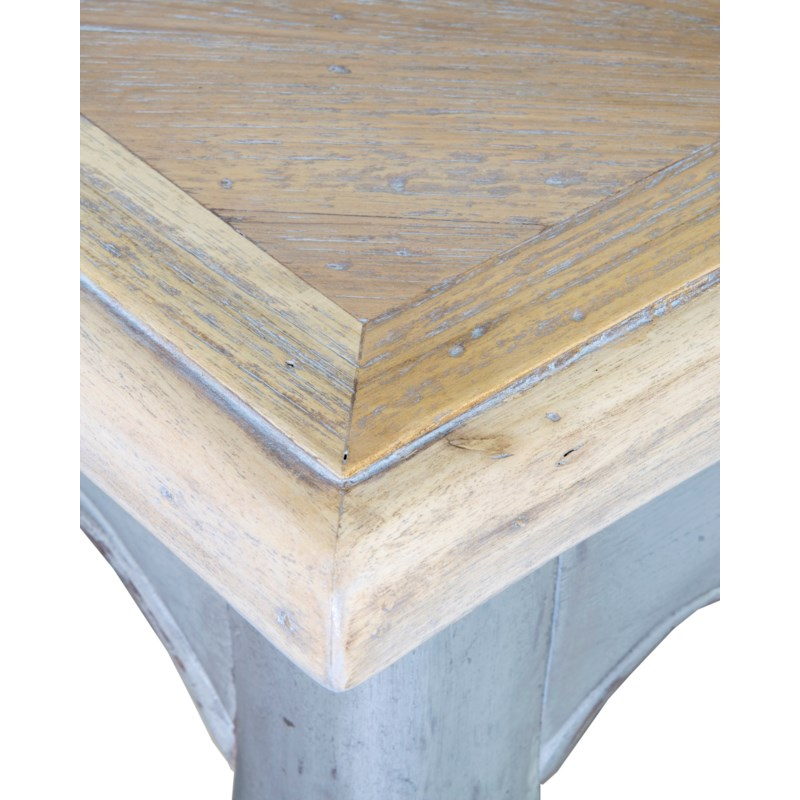 Burgundy Console with Reclaimed Teak Top (75x18x33)