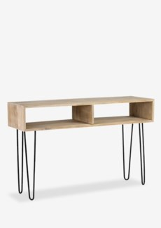 Britt Console with 2 Cubbies and Metal Angle Legs (47.6x15.75x30.7)