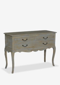 Sausalito cabriole leg vintage console table with 3 drawers and pull out shelfDimension: 41X16X29.5