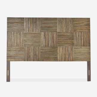 (SP) Hagen headboard block pattern - King - Grey wash (79x2.5x60)..