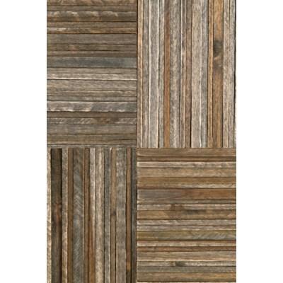 (LS) Hagen headboard block pattern - Queen - Grey wash (63x2.5x60)....