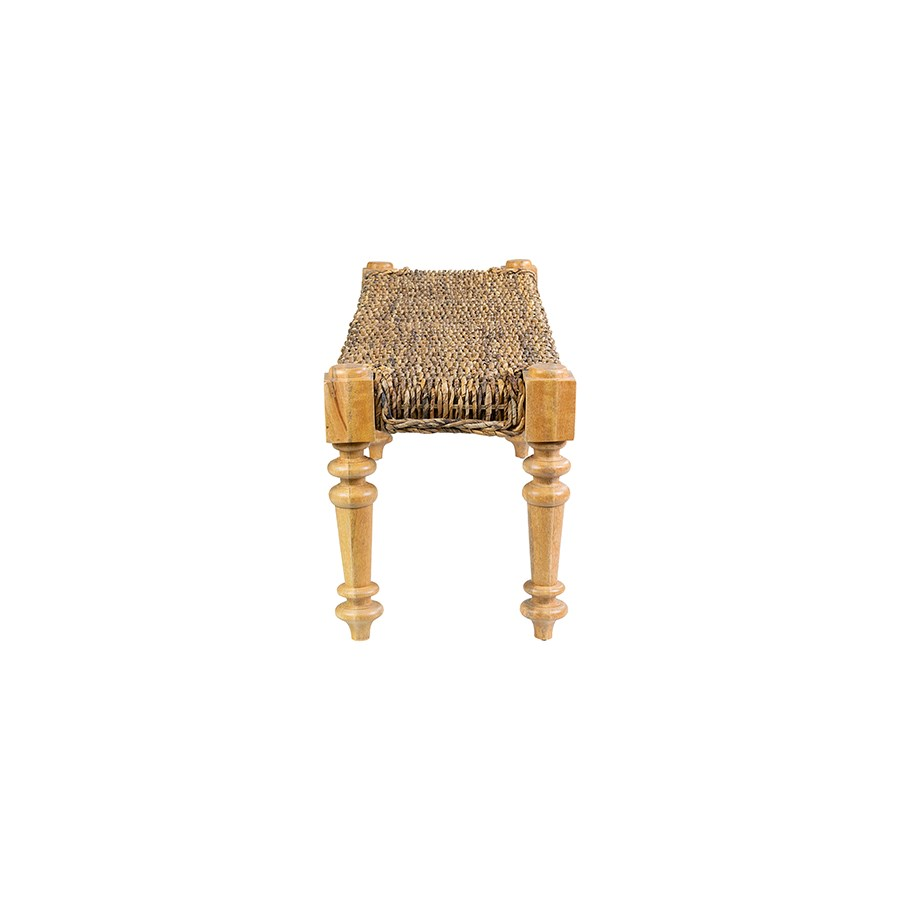 Lisbon Bench (K/D) - Natural Abaca (55x16x18)