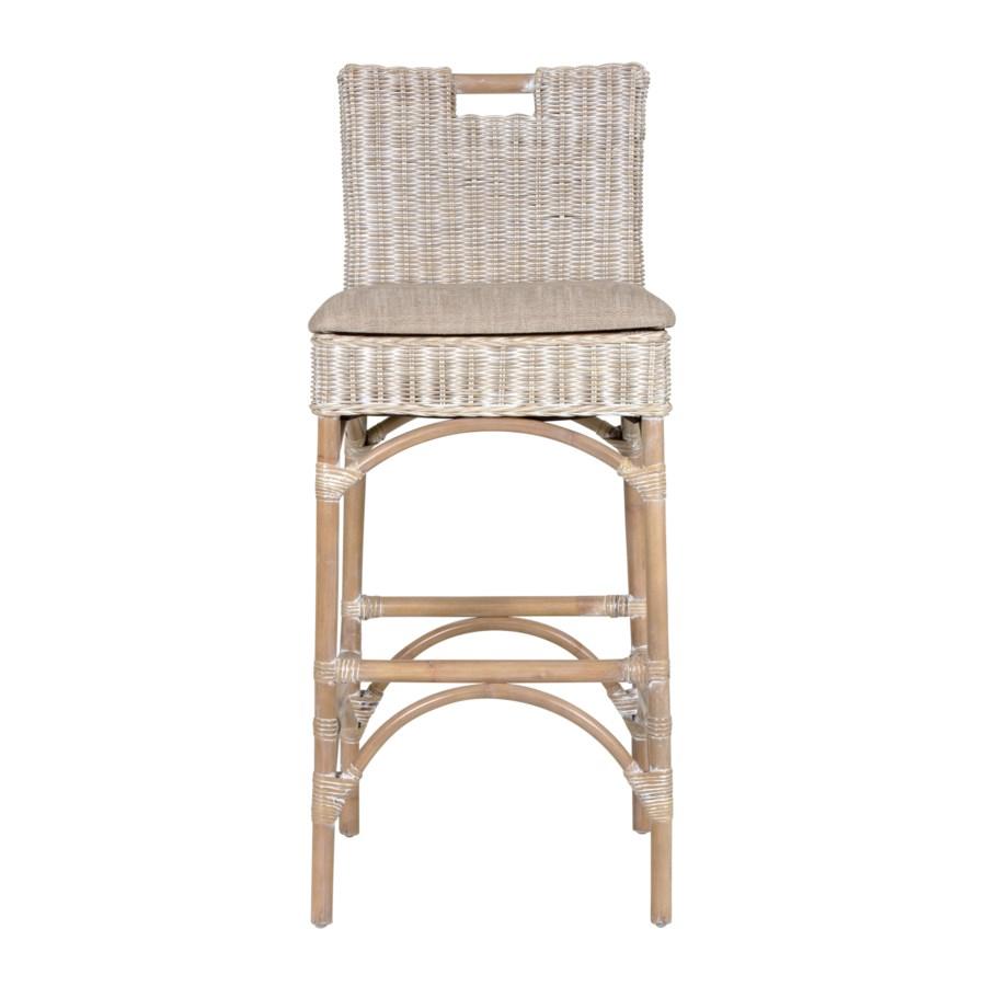 Astounding Natural Rattan Barstool Grey Wash Inzonedesignstudio Interior Chair Design Inzonedesignstudiocom