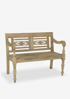 (SP) Promenade Carved Wood Bench..(43.25X25X34.25)