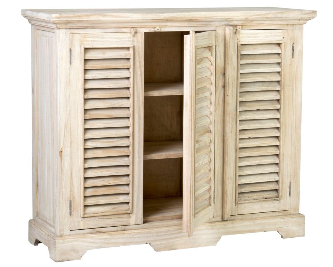Promenade 3 Door Shutter Sideboard 47x16x39 Cabinets
