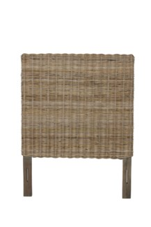 Seascape Drifwood  Rattan Headboard-Twin (42x2x54)