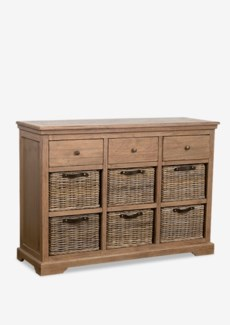 (SP) Simone Sideboard (3 Drawers+6 baskets)-Grey (47X15X33.5)