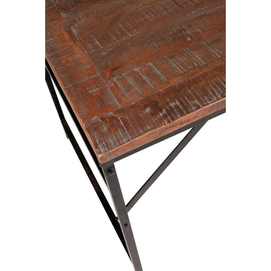 "Barley 85"" Dining Table, Wood/Iron"