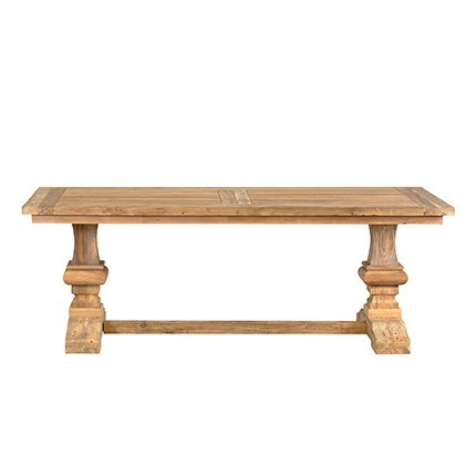 "87"" Concord Trestle Base Dining Table with Recycled Teakwood (87x31x39)"