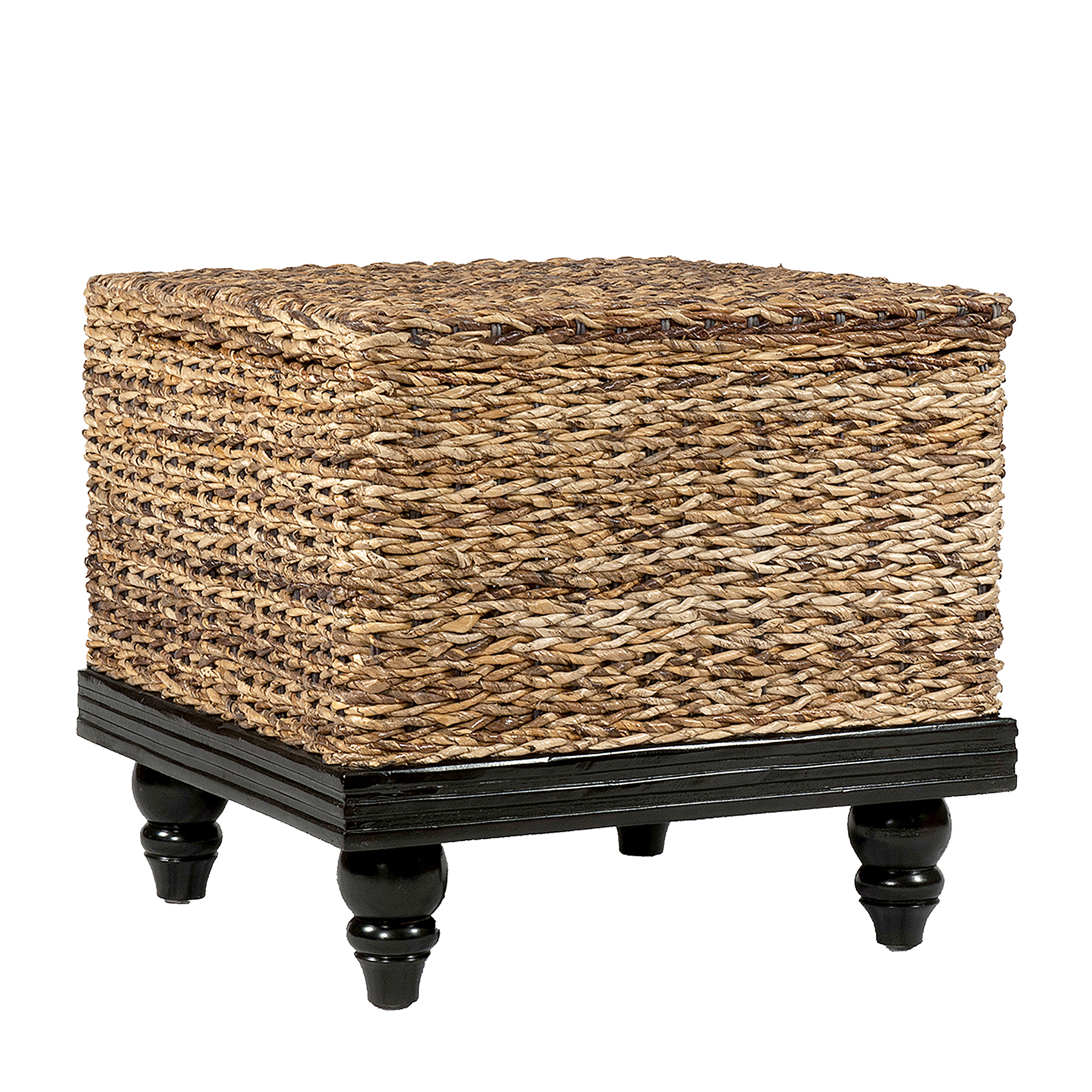 Tropical End Table Abaca Small Astor W/ Storage (24x24x22)