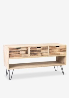 Brittany 3 Slat Front Drawers with Cubby Cabinet (50x18.2x27.5)
