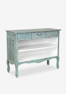 Jackie Solid Mahogany Console Bookcase