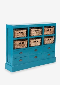 Nantucket Storage Cabinet (6 Baskets+6 Drawers) (46x10x36)