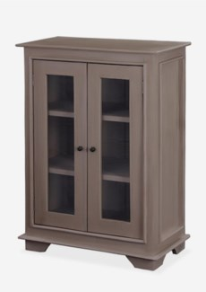 (SP) Sevilla Small Cabinet W/Glass - Smoke grey (25x13x35)