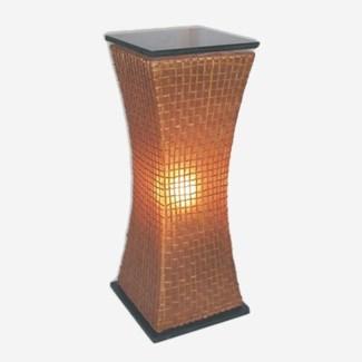 Modern Curves Pedestal Lamp (L) (15x15x39)
