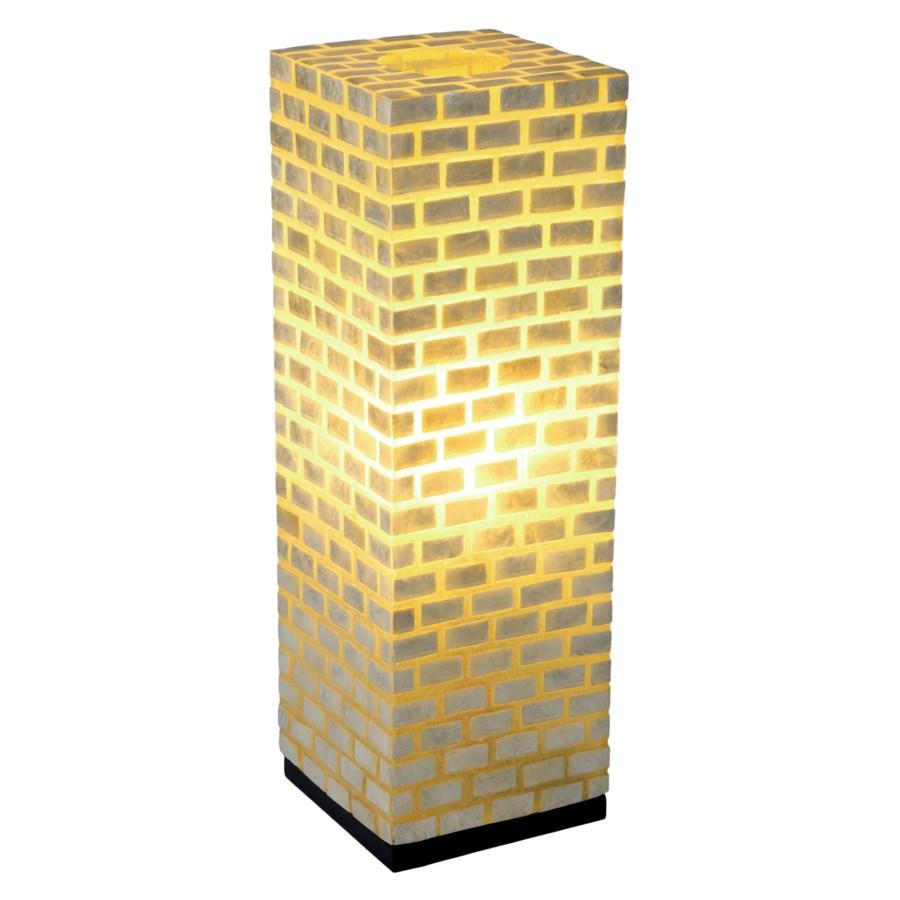 (LS) Valentti Square Table Lamp (L) - White