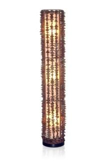 Harold Decorative Floor Lamp - L w/rattan fringe (12x12x71)