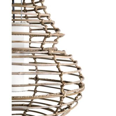 (LS) Sienna Hanging Lamp-L-Kuboo Grey..(20X20X25)..