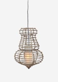 (LS) Sienna Hanging Lamp-M-Kuboo Grey..(14X14X21.5)..