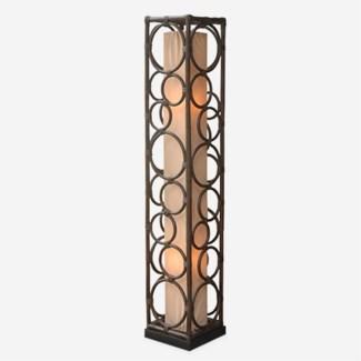Roman multi circle design decorative floor lamp-L (10X10X53)