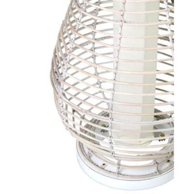 (LS) Orinda decorative floor lamp w/white wash rattan-L (19X19X52)