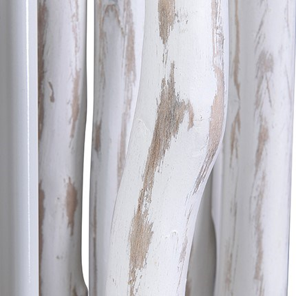 Jungle Floor Lamp White With Rectangular Shade (27X13X70) (2 boxes per piece)
