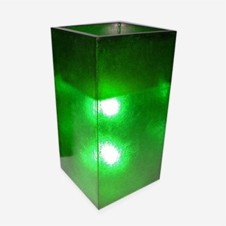 (LS) Labota Square Planter/Lamp (L)-GREEN