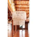 Fringe Drum Chandelier with Leather Tassles (28x28x22)..