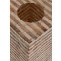 Uptown Gold-White Capiz Stripes Design Floor Lamp-Large..