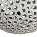"14"" Elara Round Fiberlass Lamp - Grey (14X14X14)"