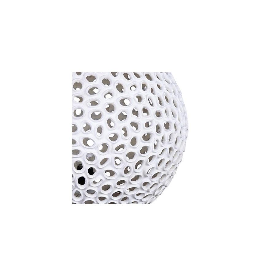 """20"""" Elara Round Fiberlass Lamp - White (20X20X18)"""