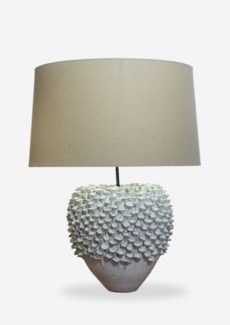"(LS) 24"" Seaside Handmade Ceramic Table Lamp with Round Shade (16x18x23).."" 2 BOXES PER ITEM"".."