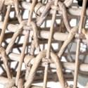 Valerie open weave woven pendant - White Wash