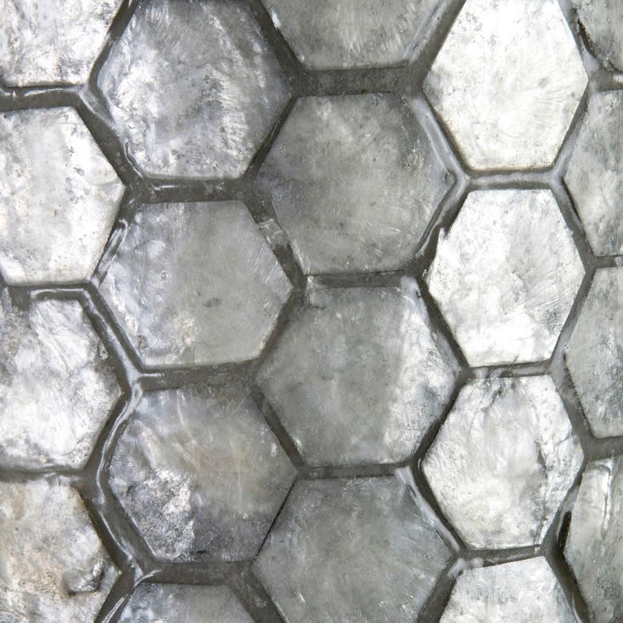 Gia Capiz Floor Lamp Large - Gray