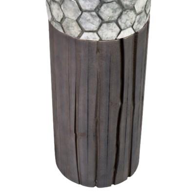 Gia Capiz Floor Lamp Medium - Gray